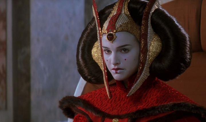Padme Amidala in 'The Phantom Menace' - from http://starwarsscreencaps.com