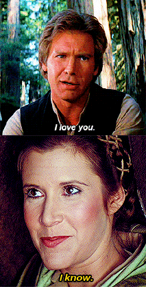 Image result for han and leia i know return of the jedi