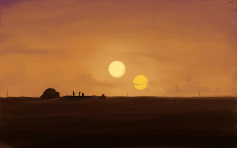Binary Sunset by Spartank42-d4rn3lh